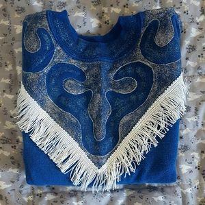 Stunning Handpainted Glitter & Fringe Sweatshirt!